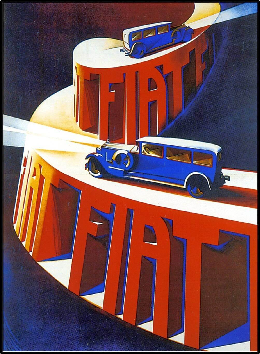 pubblicità fascista dell'industria automobilistica italiana