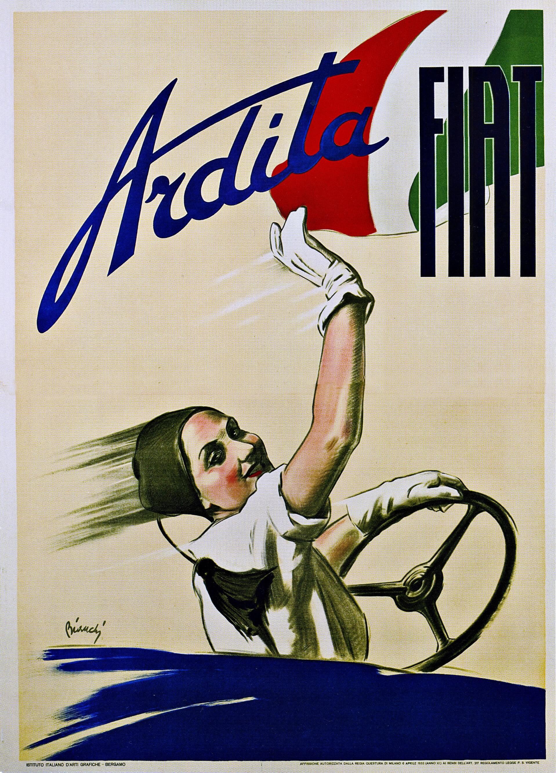 pubblicità fascista industria auto