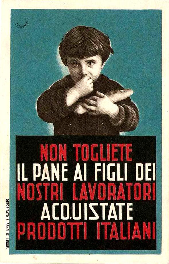 comunicazione fascista autarchia