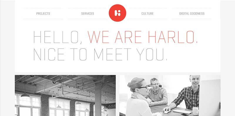 esempio sito internet dal design minimale