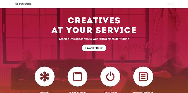 esempio uso spazio negativo nella progettazione web
