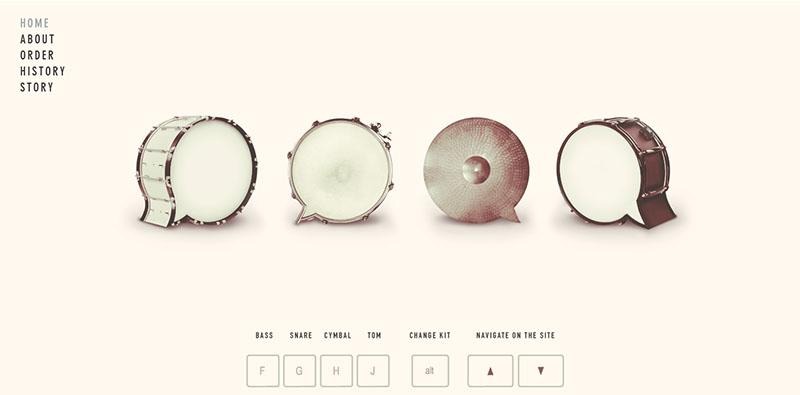 esempio di spazio negativo nella progettazione web