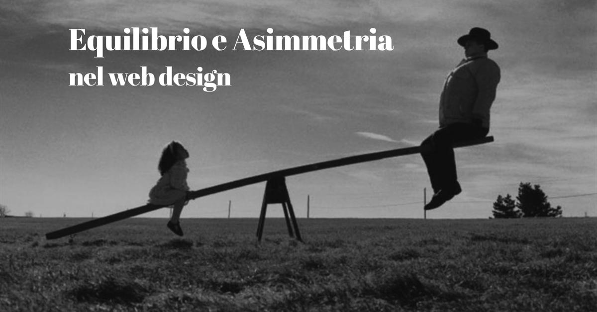 equilibrio e design asimmetrico nello sviluppo web