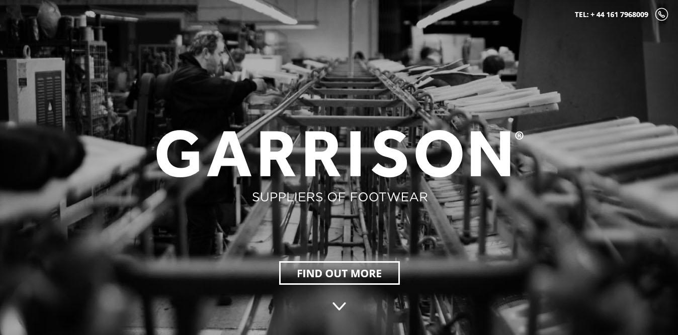 landing page di esempio con scorrimento ed effetto parallax per il sito web di garrison
