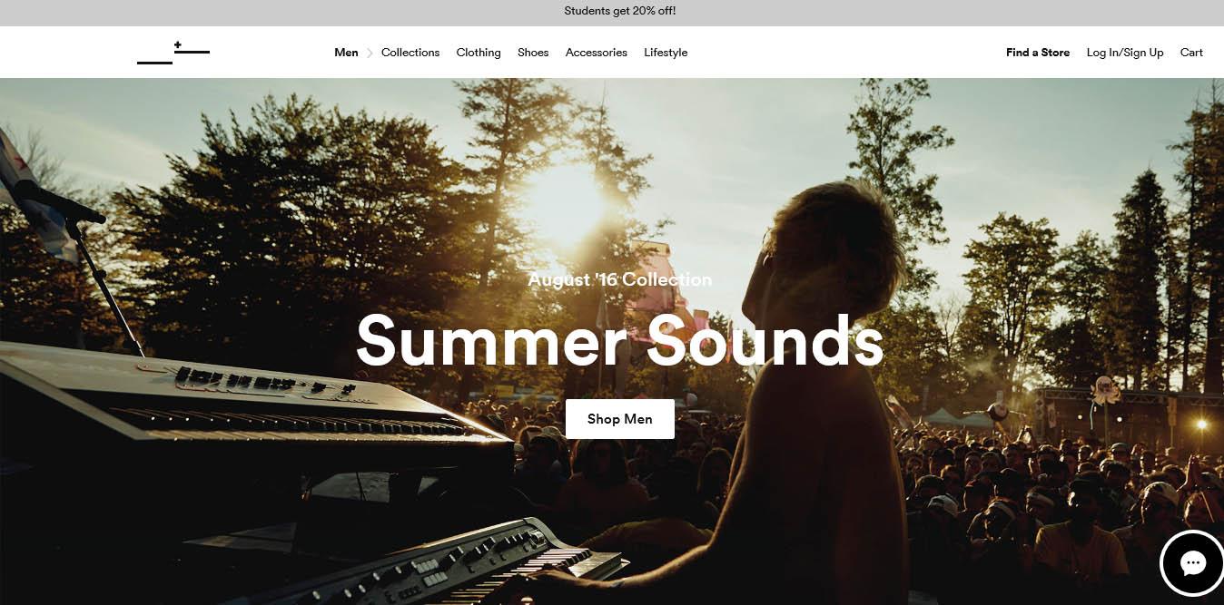 landing page del sito frankandoak con video