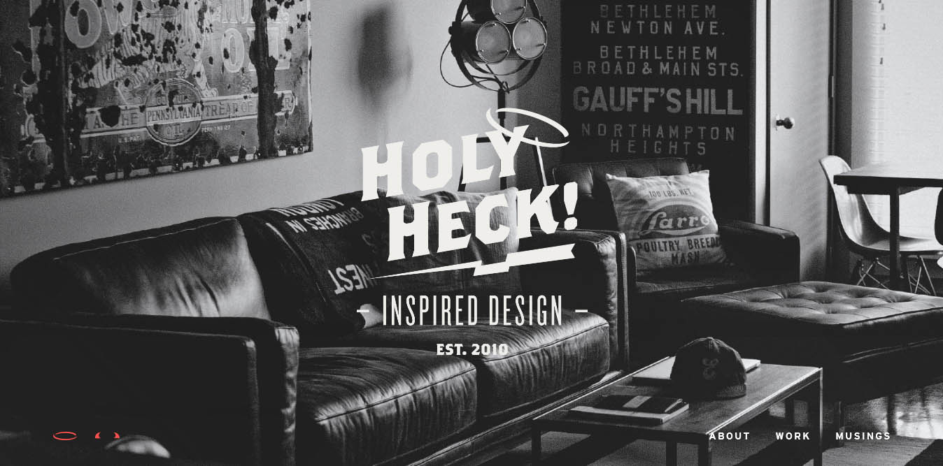 landing page del sito holy heck con video