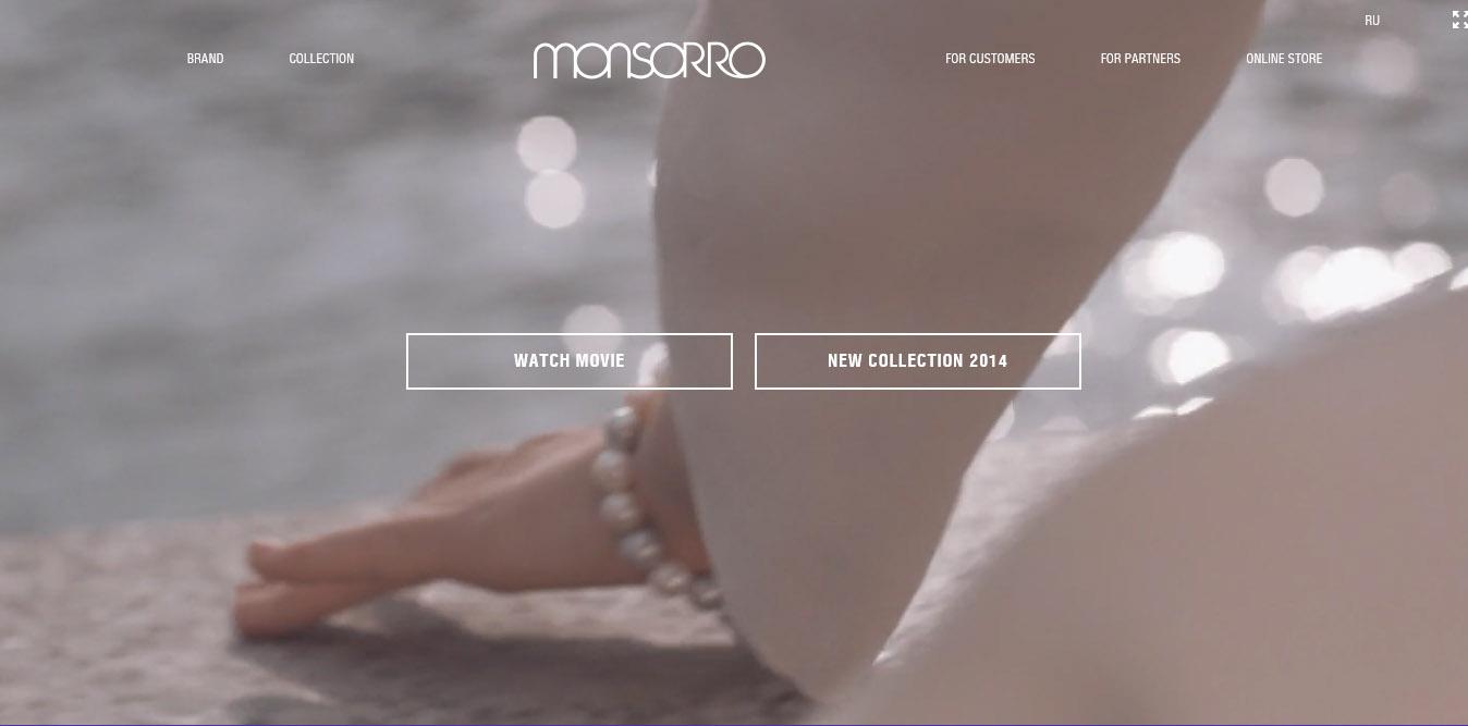 landing page del sito monsorro con video