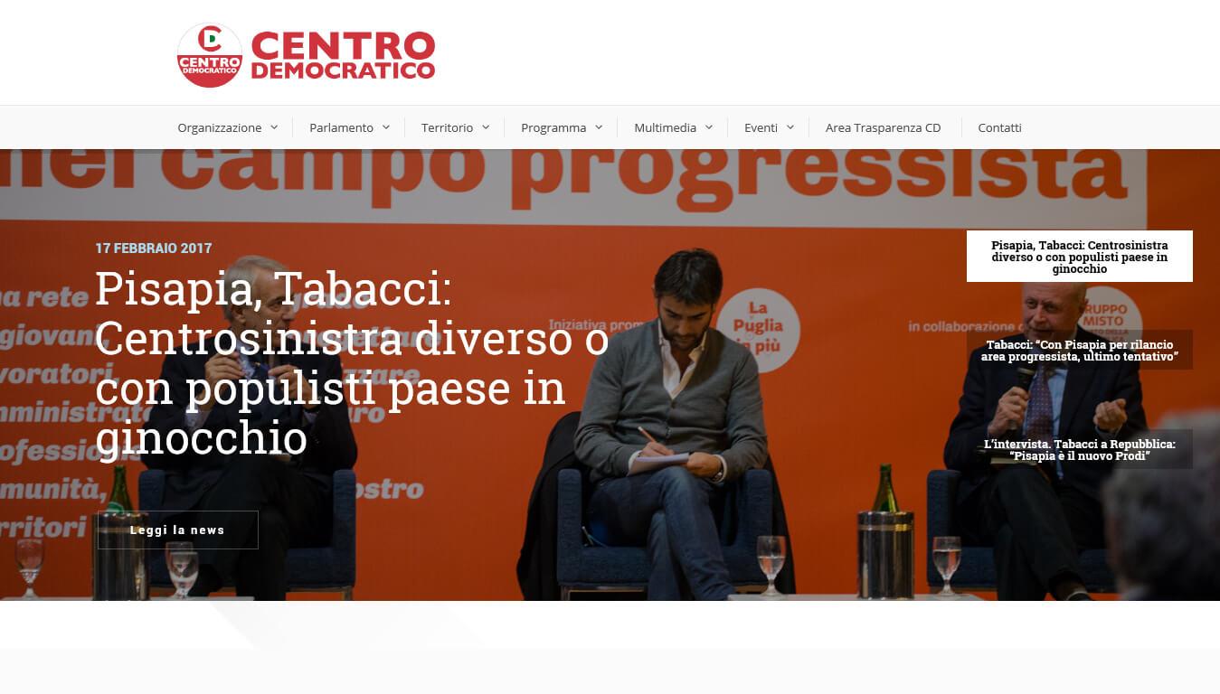 sito web del centro democratico