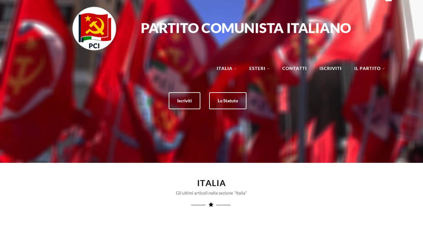 sito web del partito comunista