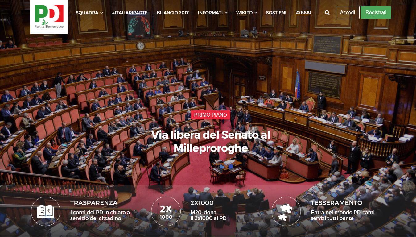 sito internet del partito democratico
