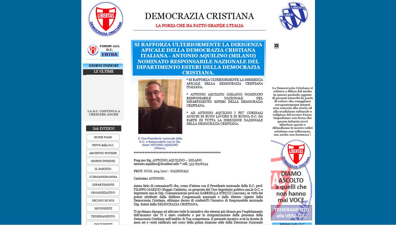 sito della democrazia cristiana
