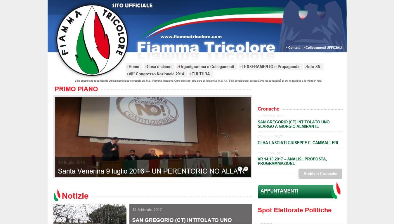 sito internet del partito fiamma tricolore