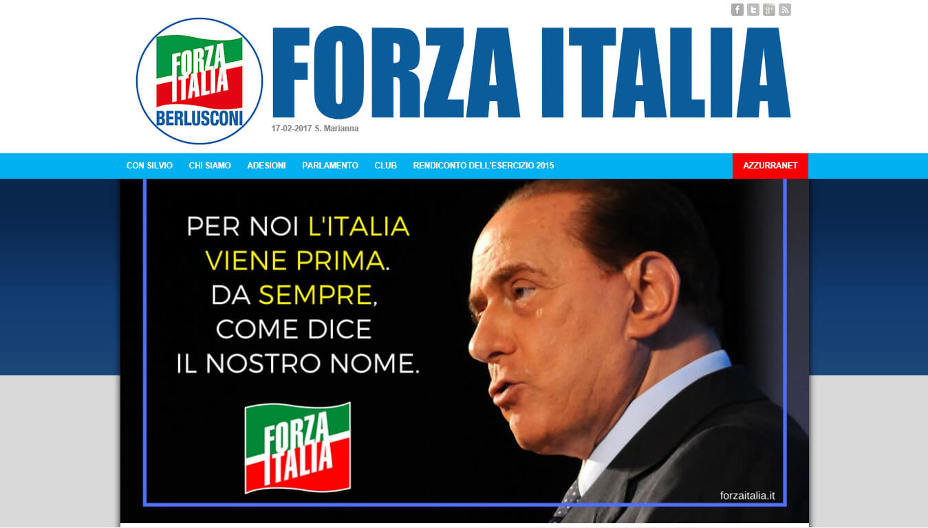 sito web di forza italia