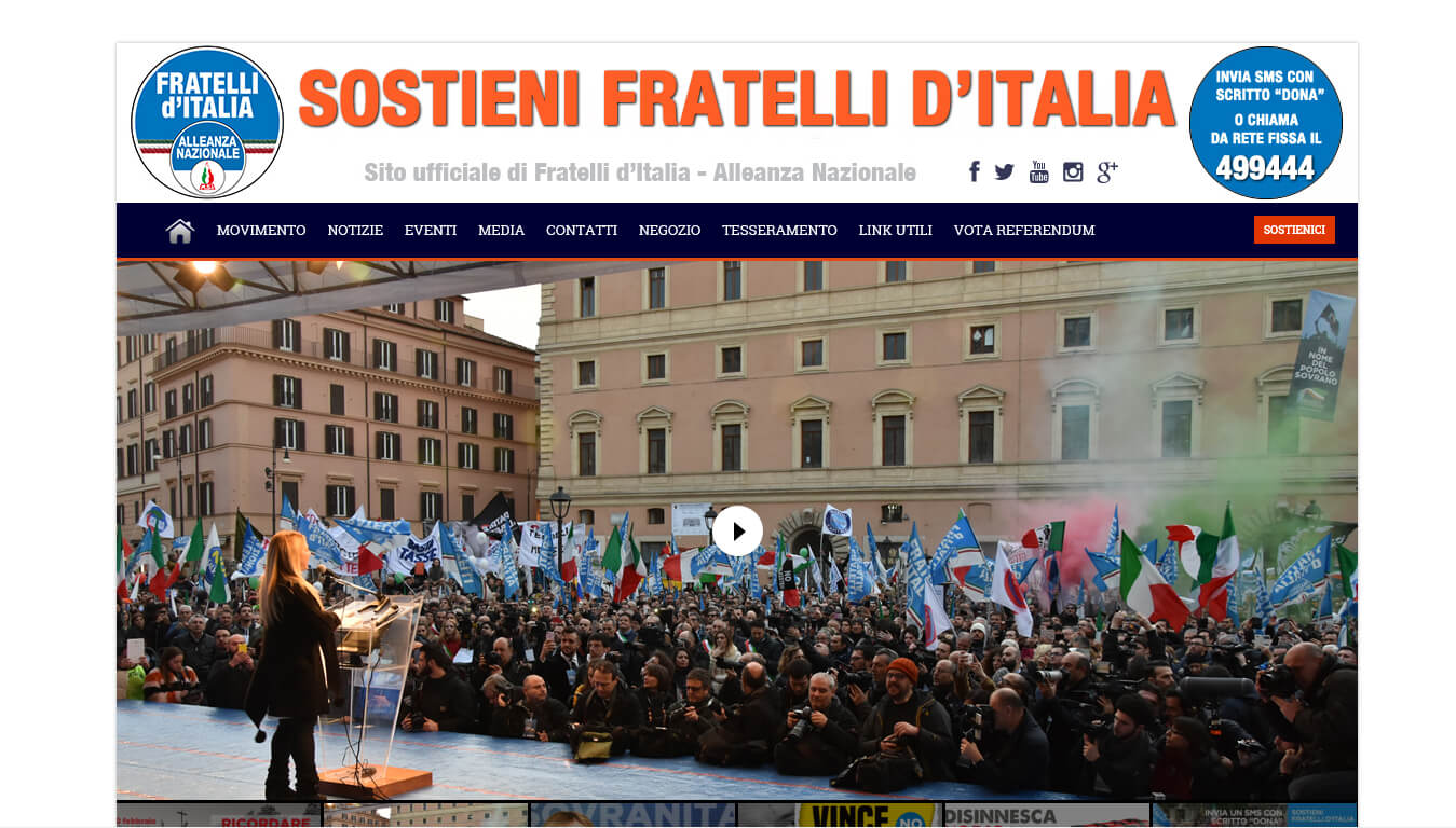 sito web di fratelli d italia
