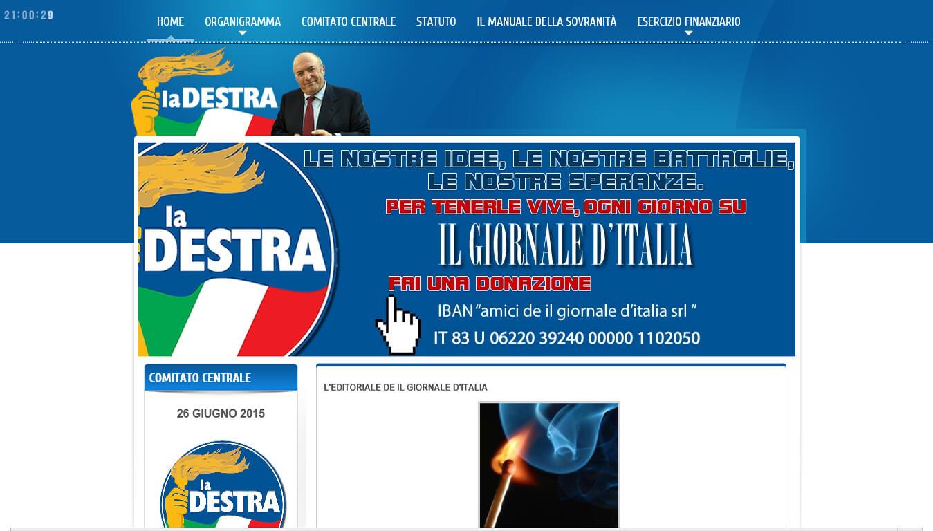 sito web del partito la destra