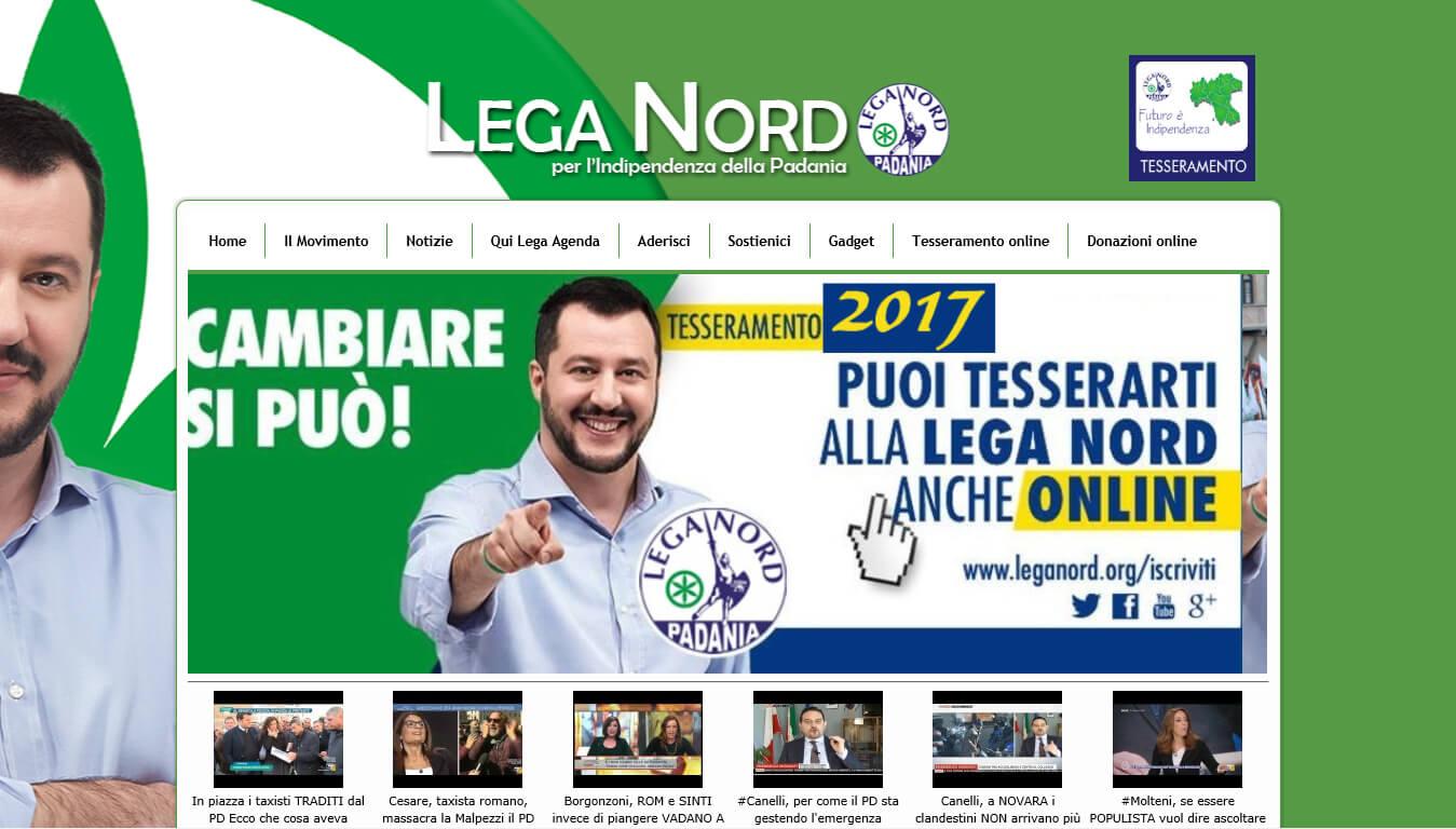 sito web della lega nord