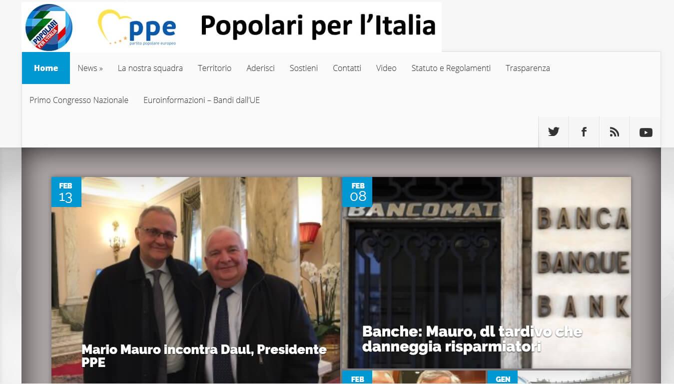 sito dei popolari per l italia