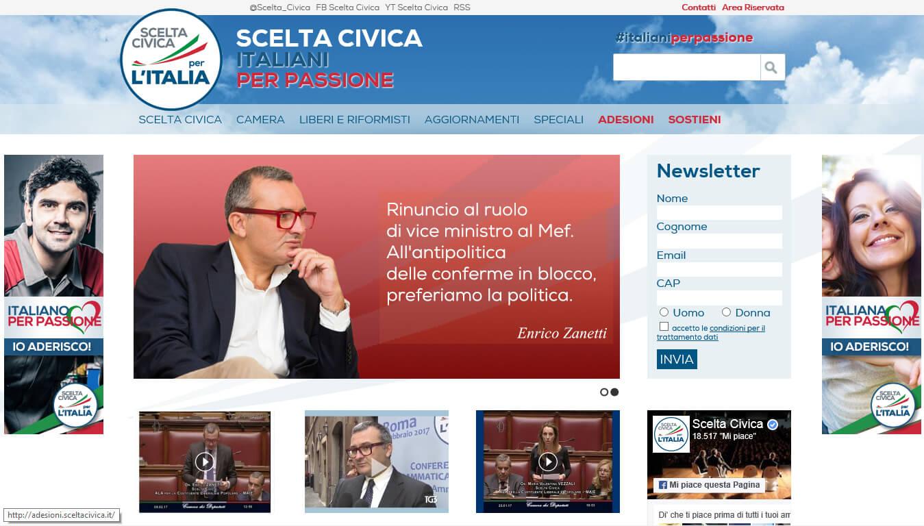 sito web di scelta civica