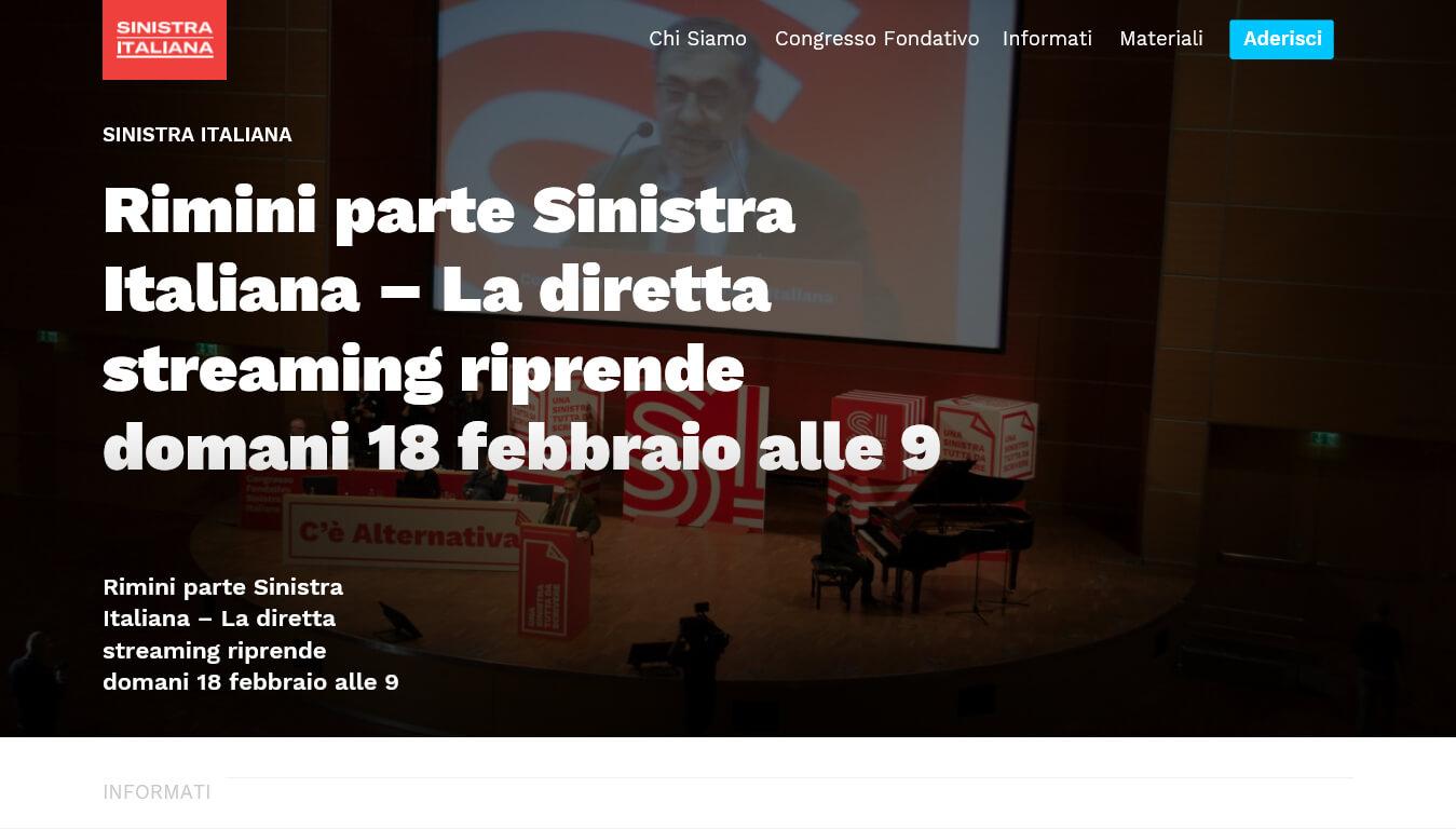 sito internet di sinistra italiana