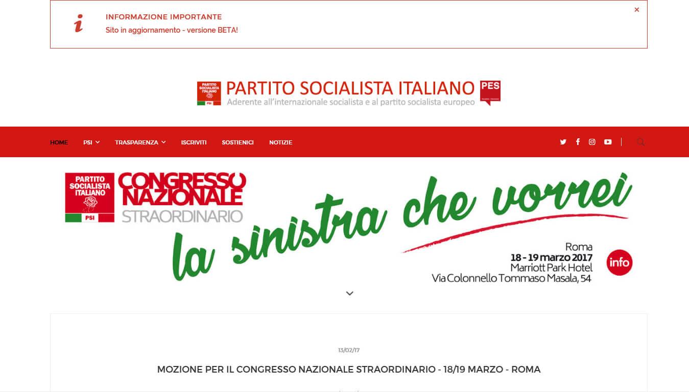 sito del partito socialista italiano