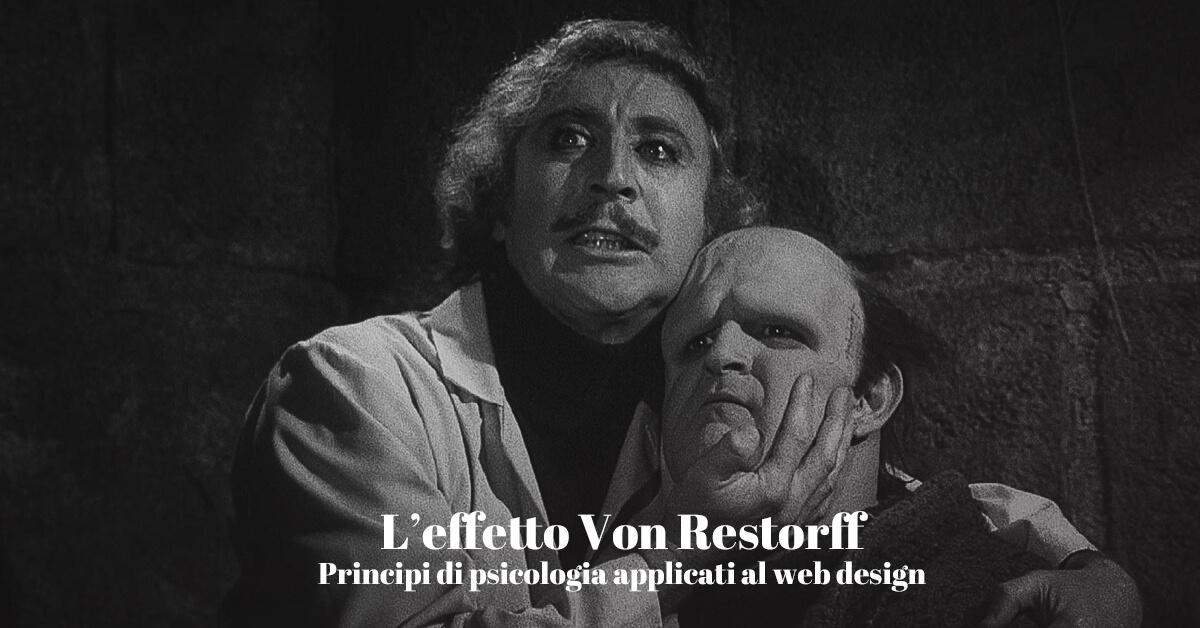 Effetto Von Restorff principi di psicologia nel web design