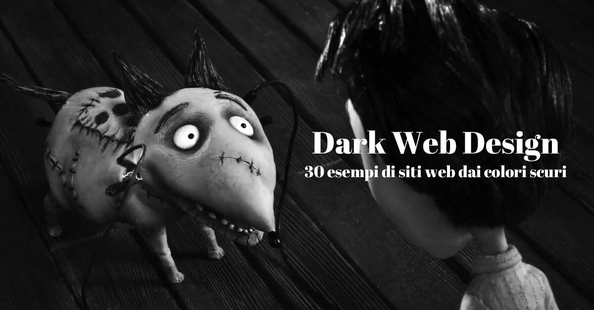 galelria di esempi di siti con layout colore scuro e nero