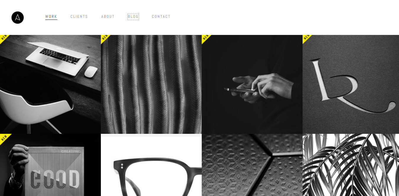 dark web design esempi recenti