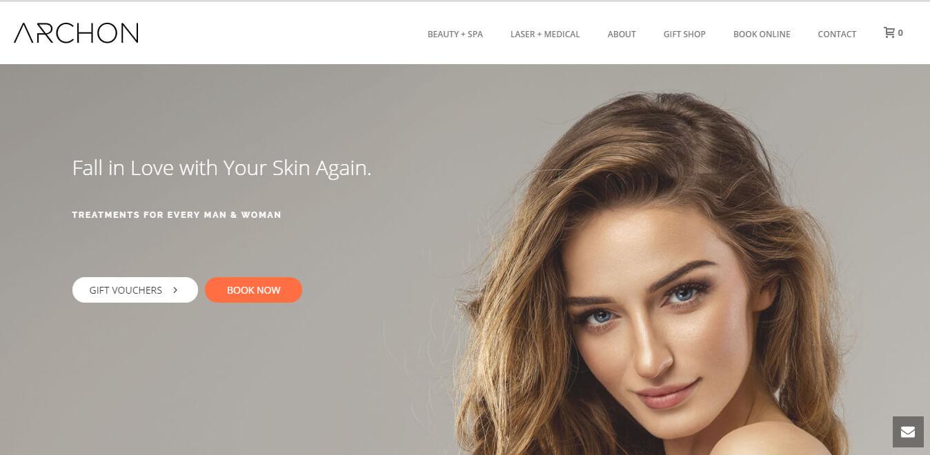 esempio di sito web per chirurgo estetico