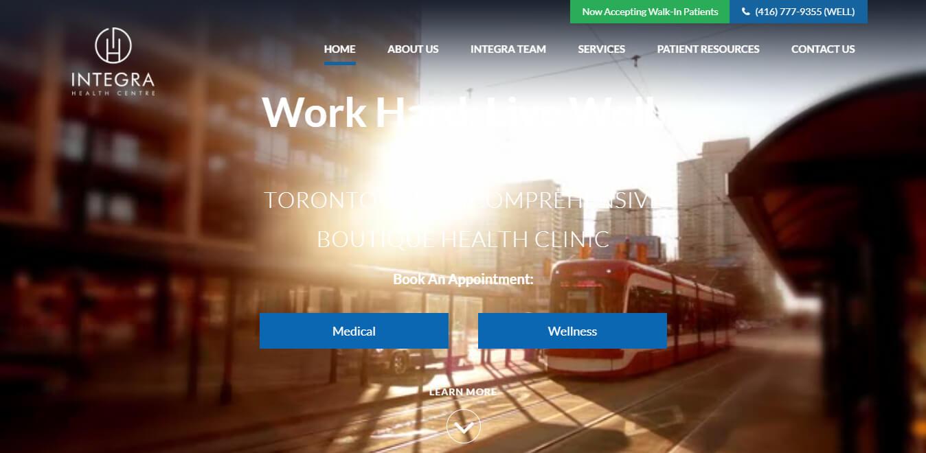 esempio sito per clinica privata