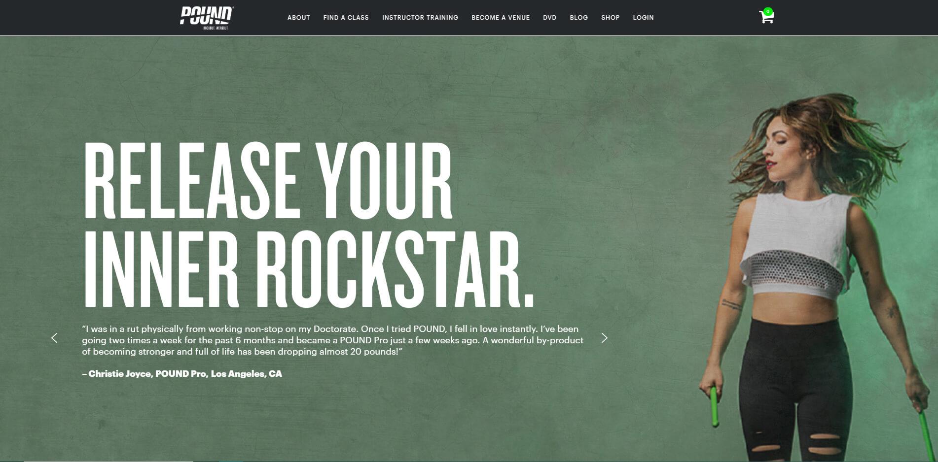 esempio di sito web per palestra