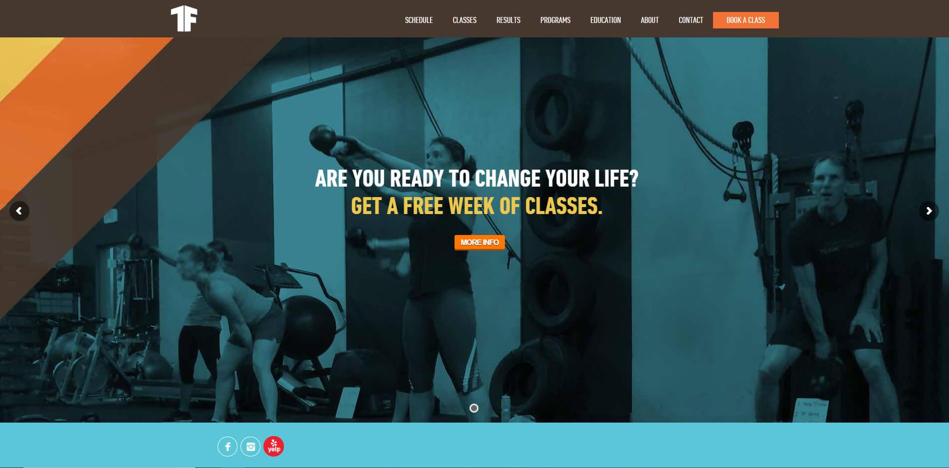 esempio sito web per palestra di crossfit