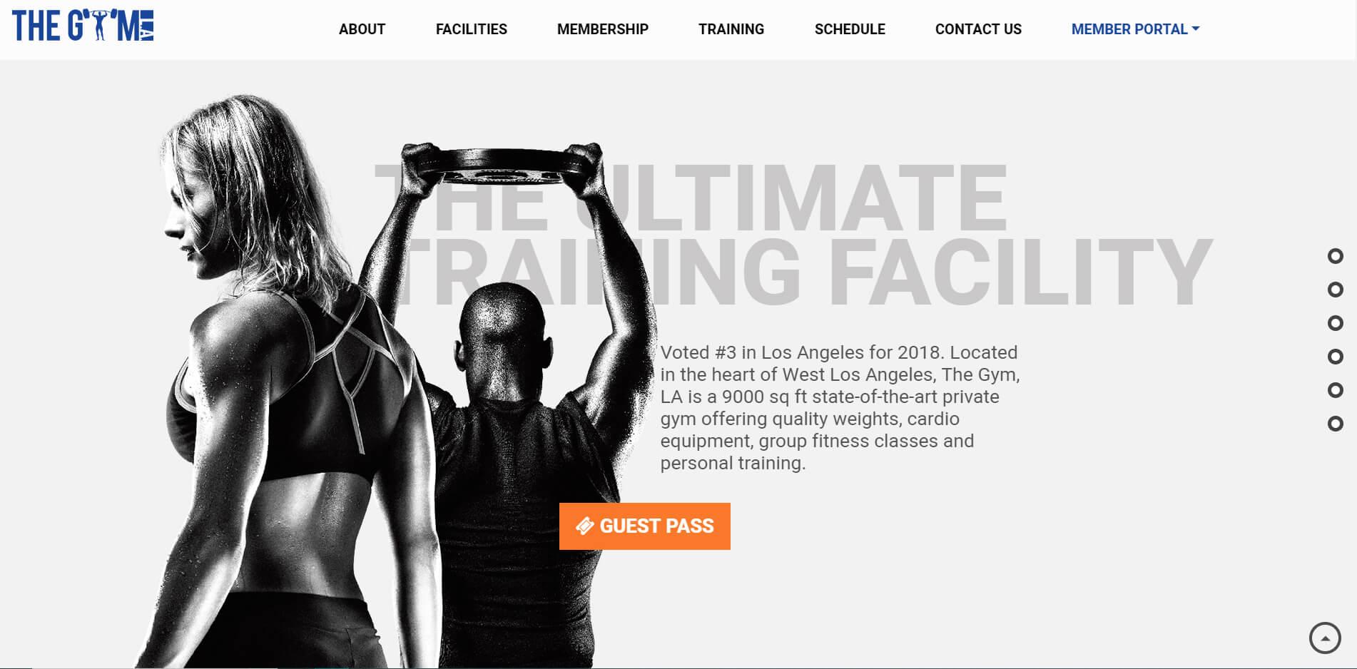 esempio sito web per palestra e sala fitness
