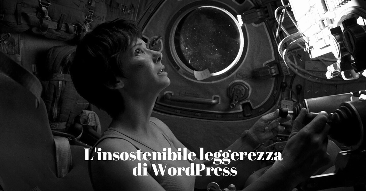 l'insostenibile leggerezza di WordPress, un cms dai molteplici punti di forza