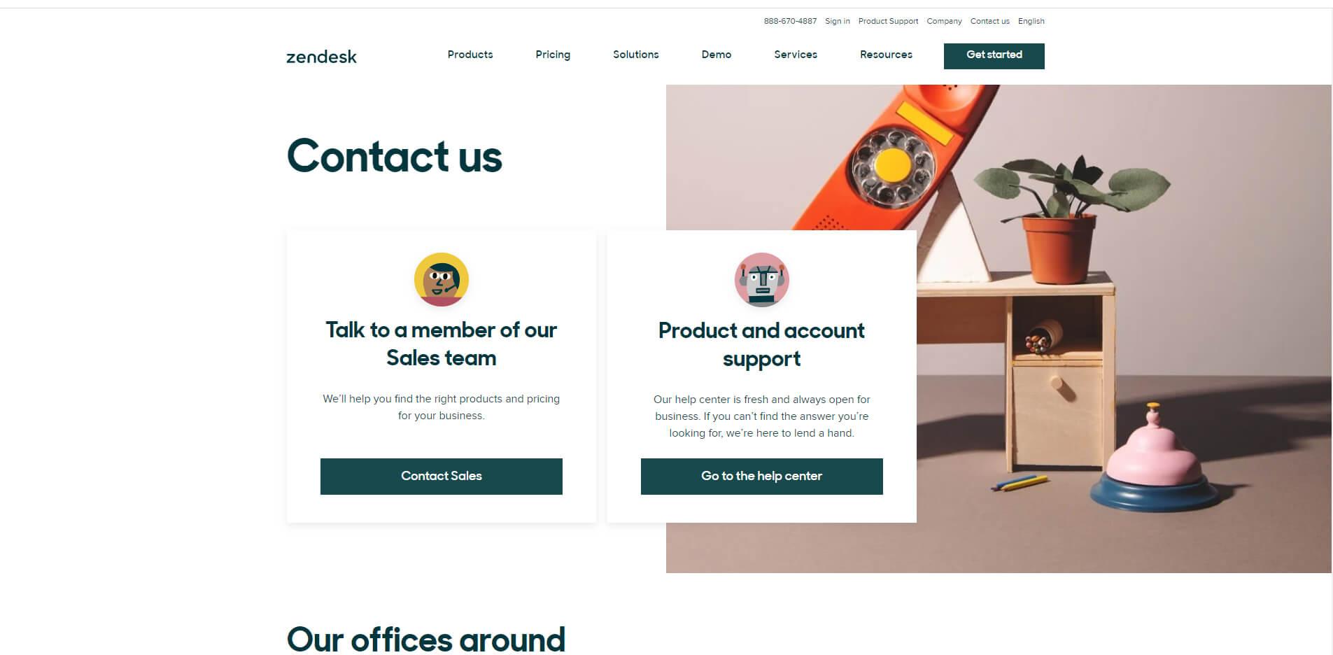 esempio design pagina contatti