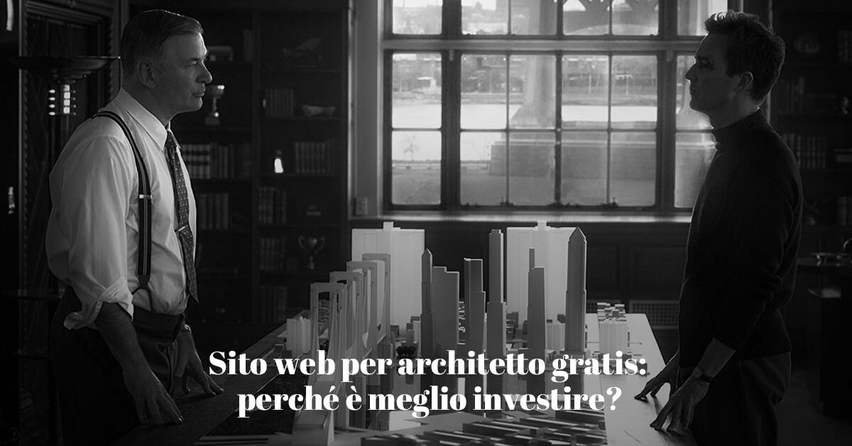 Quanto costa un sito professionale per architetti?