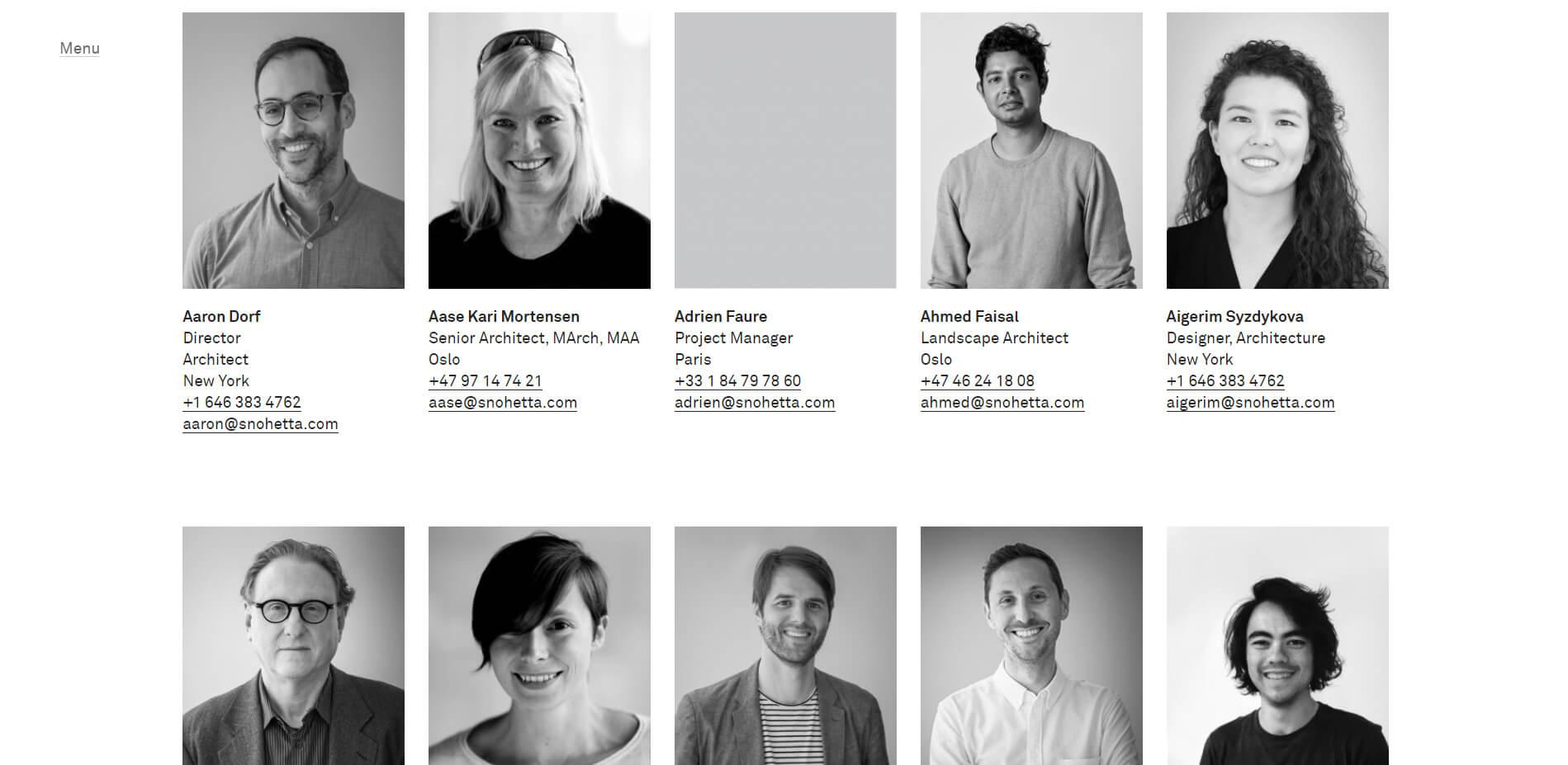 esempio pagina chi siamo siti web per architetti